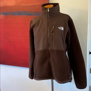 The north face brown zip front light jacket
